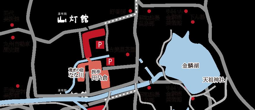 湯布院 山灯館の周辺地図